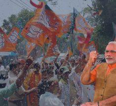 Saffron Surge hits India Again BJP touches 300-mark