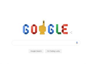 Today Google Doodle in India Marks the start of Lok Sabha Election 2019